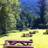 Ruby Lake picnic tables